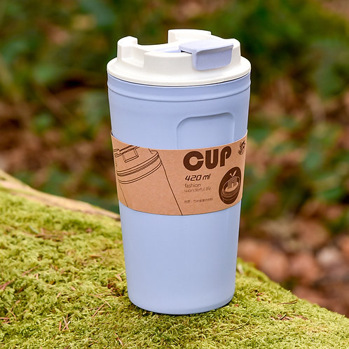 BAMBOO REUSABLE TRAVEL CUP (BLUE)