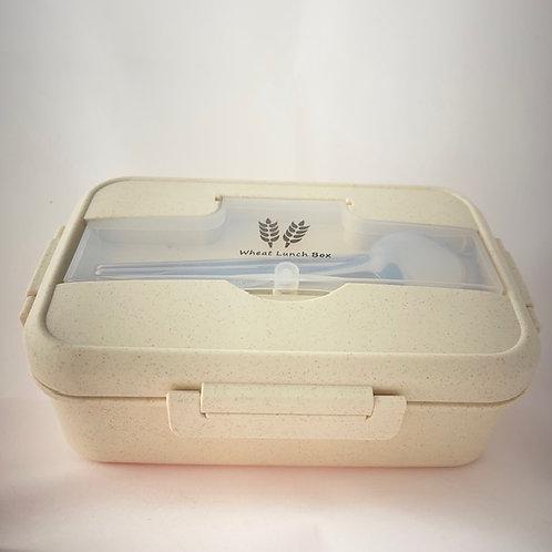 PORTABLE 1.1L BAMBOO FIBRE LUNCH BOX (WHITE)