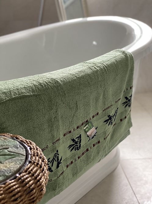 BAMBOO FIBRE  BATH TOWEL (GREEN)