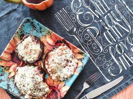 Portabella Mushroom Three Cheese Pizzas