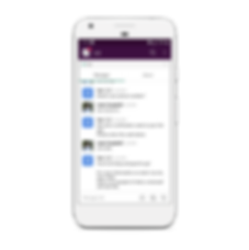 screenshot of slack when integration with vxt voicemail assistant app is enabled