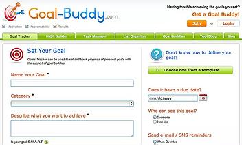Goal-buddy goal setting tool