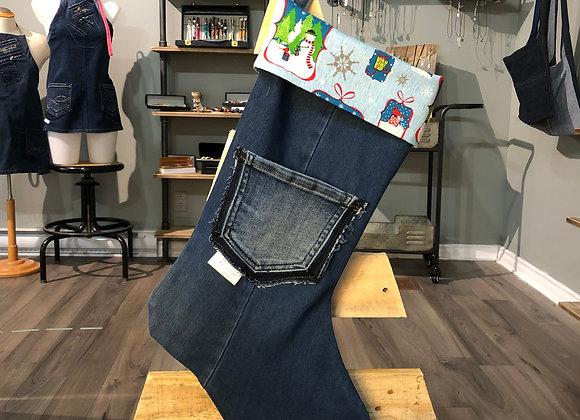 Bas de Noël en jeans 06