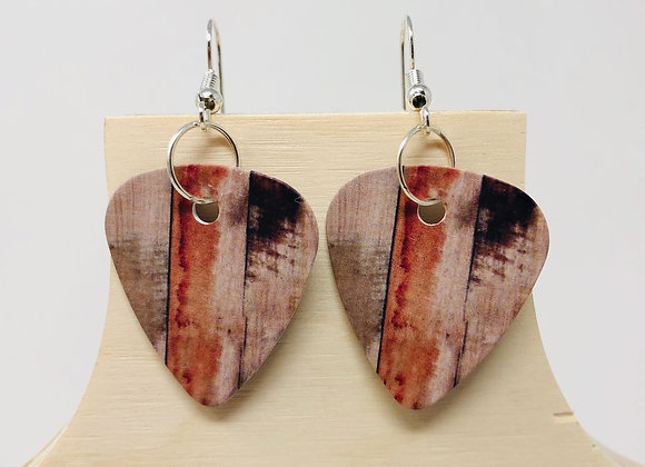 Boucles d'oreilles picks de guitare 14