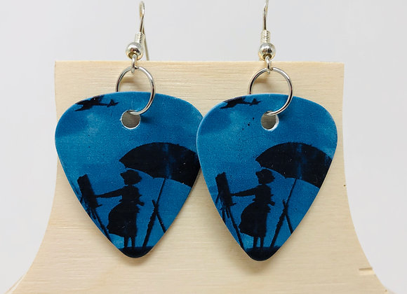 Boucles d'oreilles picks de guitare 05