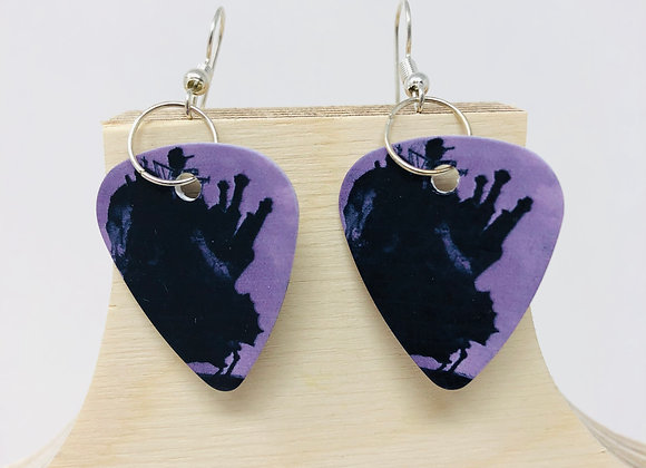 Boucles d'oreilles picks de guitare 25