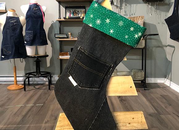 Bas de Noël en jeans 07