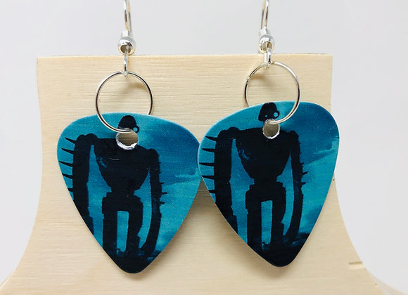 Boucles d'oreilles picks de guitare 04