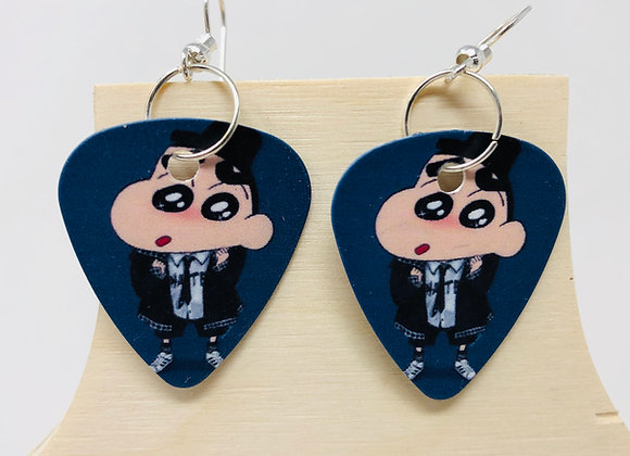 Boucles d'oreilles picks de guitare 01