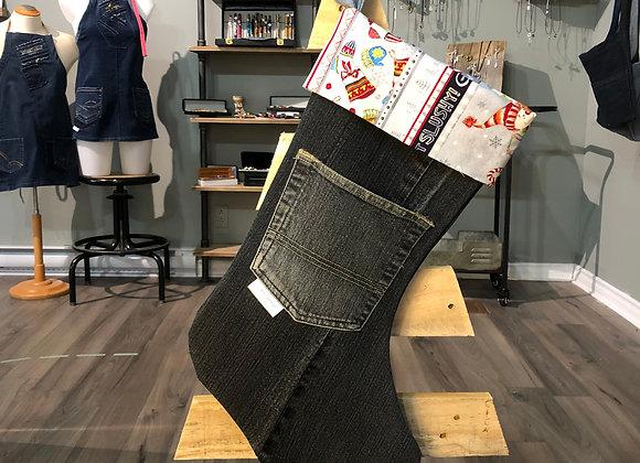 Bas de Noël en jeans 09