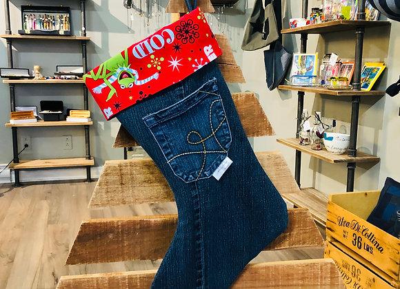Bas de Noël en jeans 03