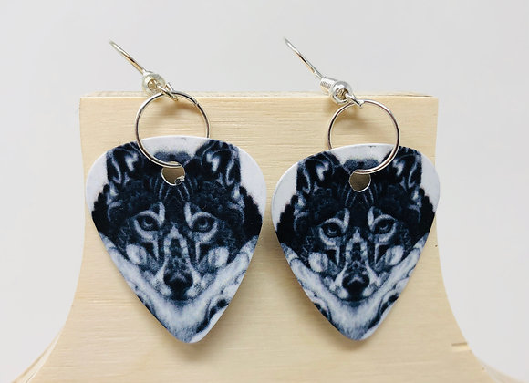 Boucles d'oreilles picks de guitare 03