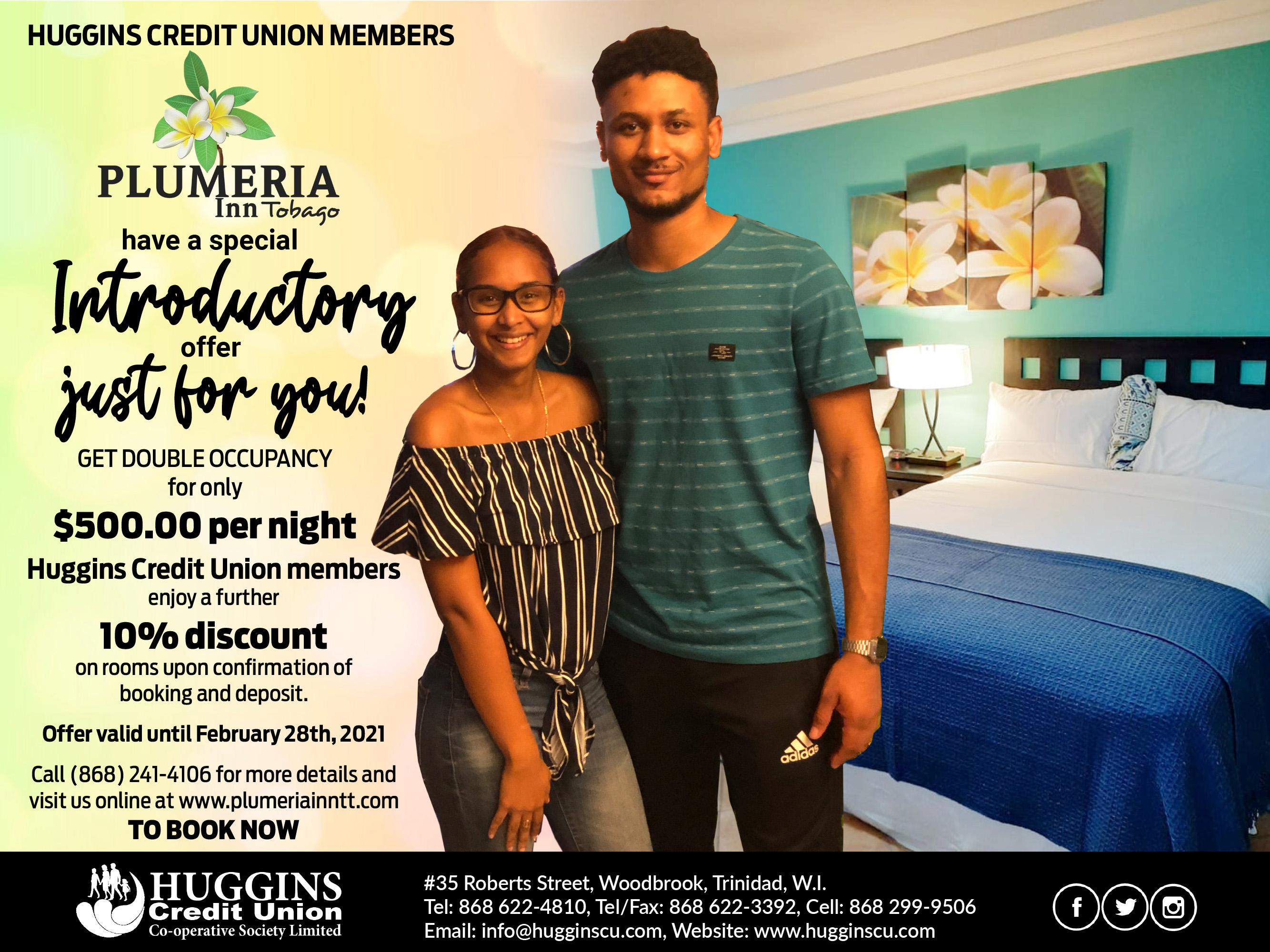 Huggins Plumeria Inn offer Dec 2020