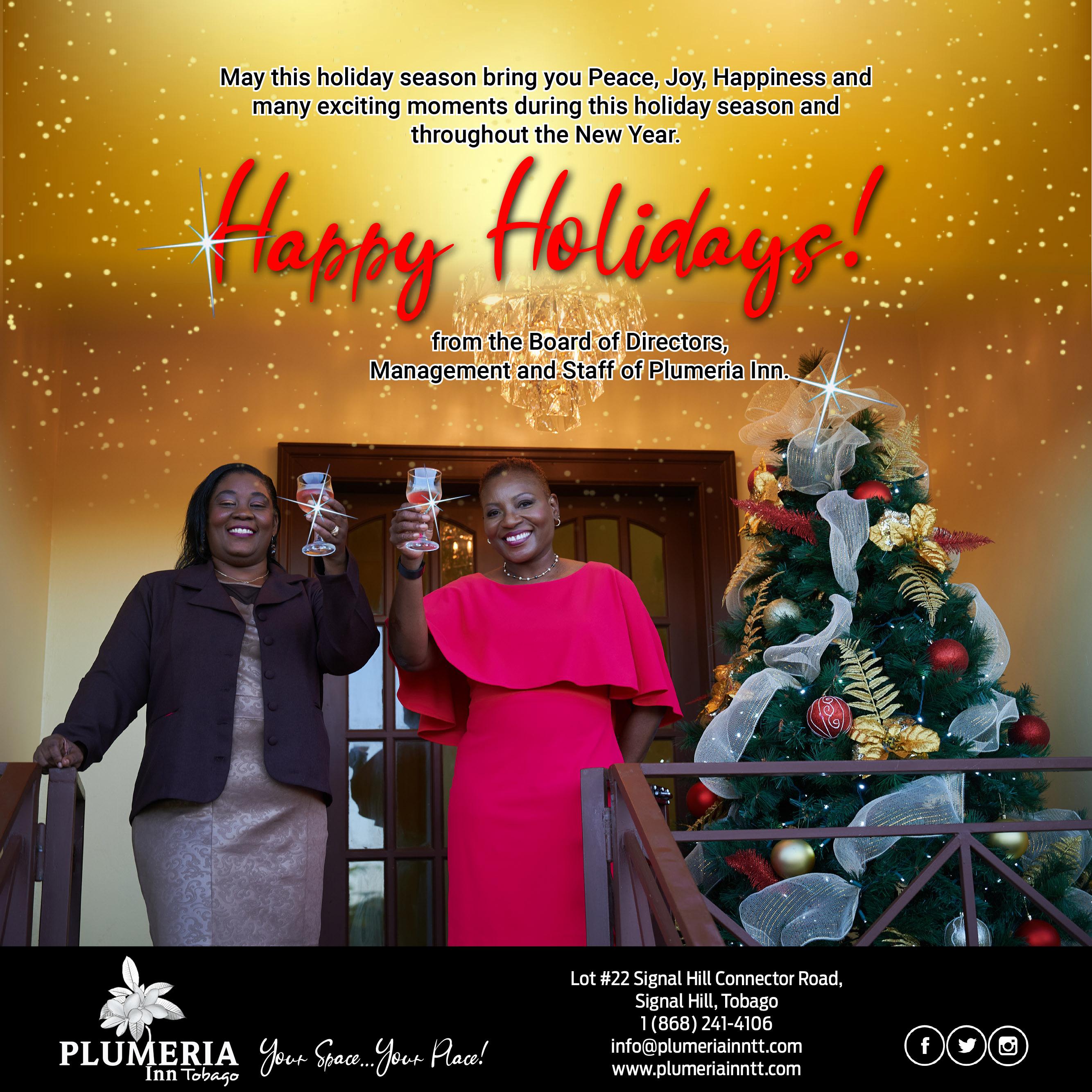 Plumeria Holiday Season Greetings 2020