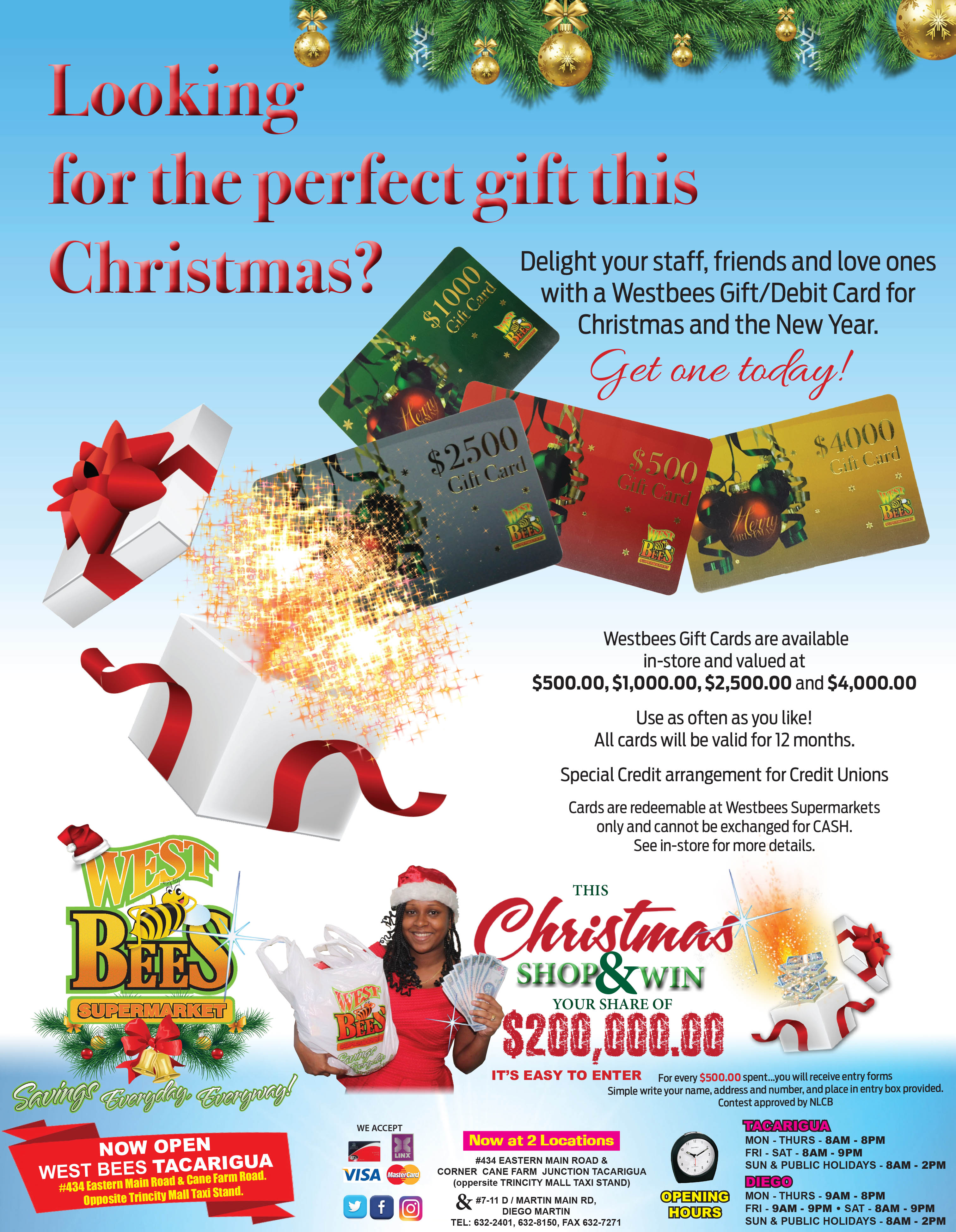 Westbees Gift Card press ad
