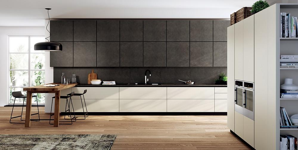 Кухня в современном стиле из керамики