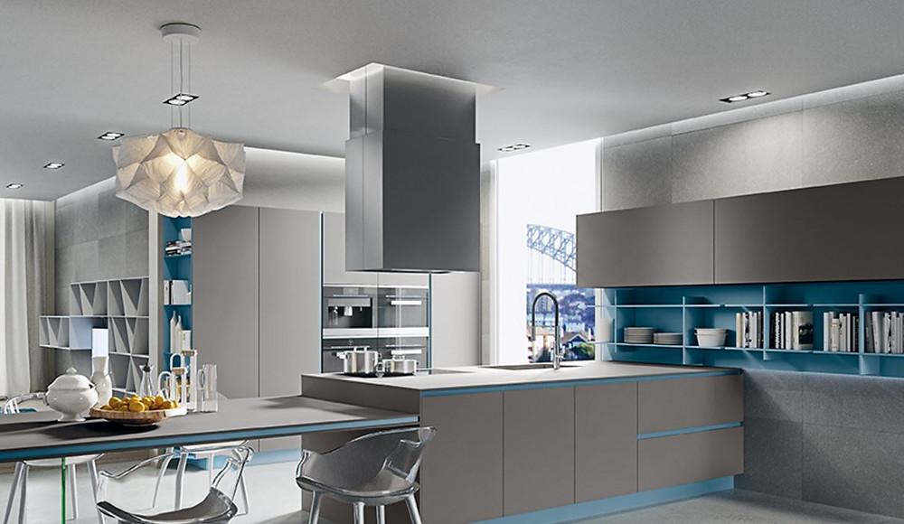 Необычные кухни с легким дизайном и прочной поверхностью.