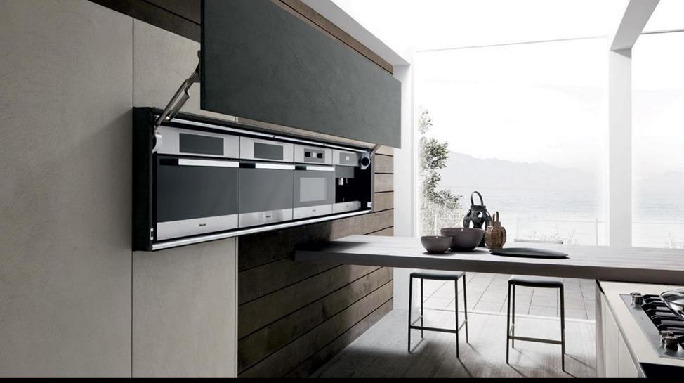Стильные фасады керамической кухни.