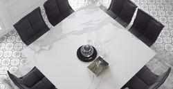 Обеденный стол из керамики