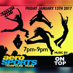 Friday Night I'll be _aerosportsbrampton from 7pm-9pm for _Blackout Friday's_!_Bring the family & Fr