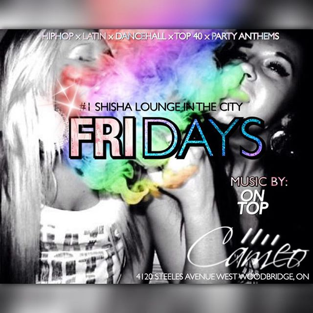 Another instalment of _Friday's_ _cameo.lounge with yours truly. _The #1 Shisha lounge in the city