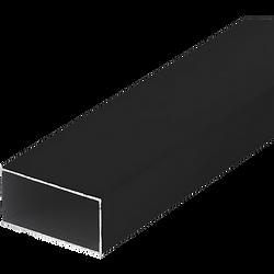 Perfil de Aluminio Negro