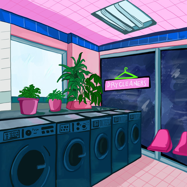 Illustrazione digitale - laundry