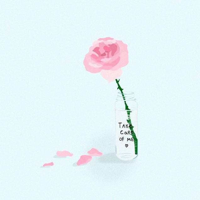 Illustrazione digitale - Dillo con un fiore