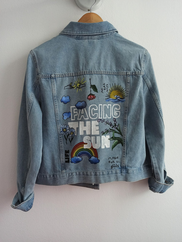 Handpainted denim jacket