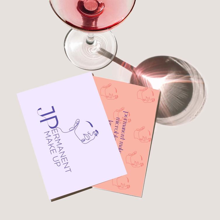 JP Permanent Make Up - Logo design - Business Card