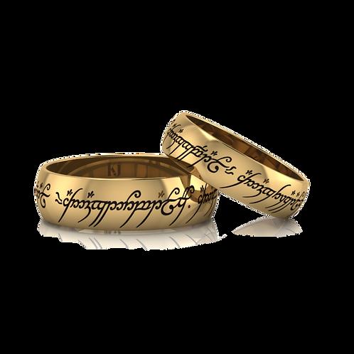 Nhẫn cưới thiết kế The lord of the ring KJW0102