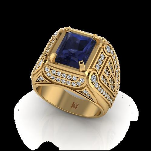 Nhẫn nam đá saphire KJM0542