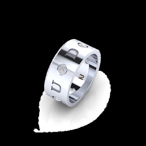Nhẫn nam chữ  và đá KJM0731
