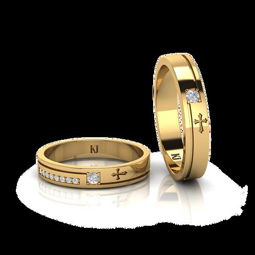 Nhẫn cưới thiết kế thánh giá  KJW0164
