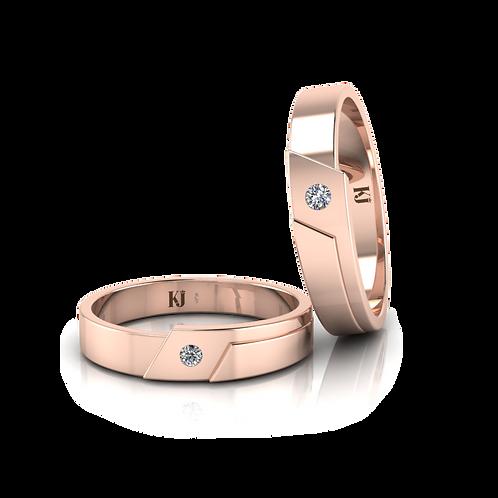 Nhẫn cưới thiết kế KJW0107