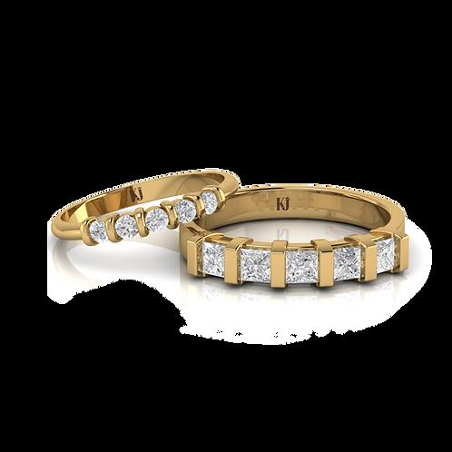 Nhẫn cưới Kim Cương KJW0226