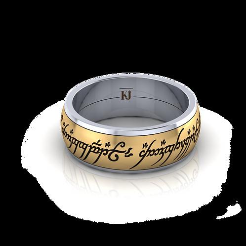 Nhẫn nam chúa tể xoay 2 màu KJM0102M2