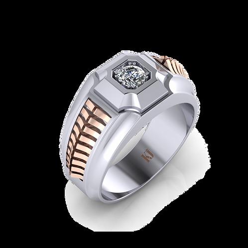 Nhẫn nam xương cá thiết kế KJM0735