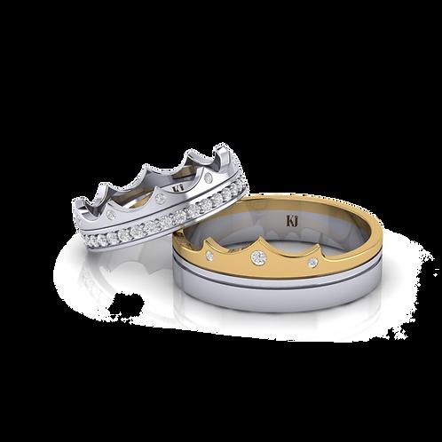 Nhẫn cưới vương miện KJW0474 M2