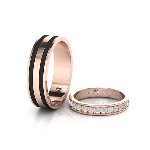 Nhẫn cưới thiết kế KJW0182