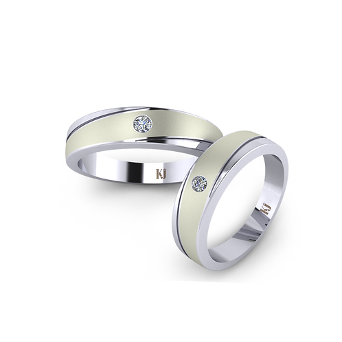 Nhẫn cưới đơn giản KJW0105
