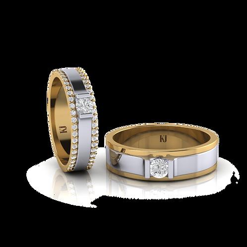 Nhẫn cưới 2 màu KJW0131