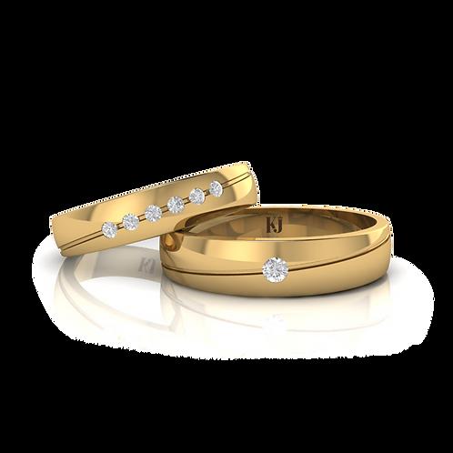 Nhẫn cưới thiết kế KJW0114