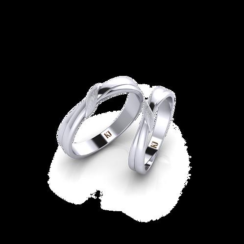 Nhẫn cưới trơn không đá KJW0288