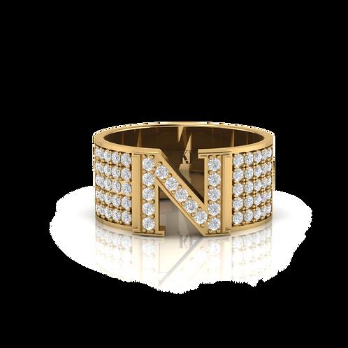 Nhẫn nam chữ N KJM0257