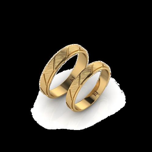 Nhẫn cưới trơn xước KJW0285