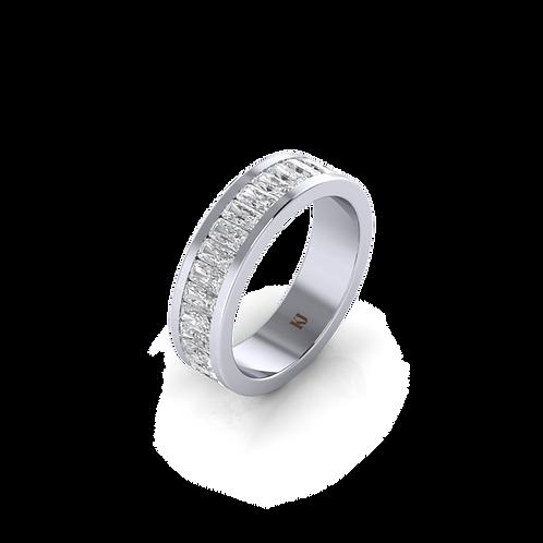 Nhẫn nam đá chữ nhật giác emerald  KJM0805