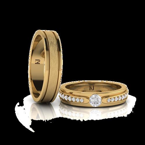 Nhẫn cưới thiết kế KJW0162
