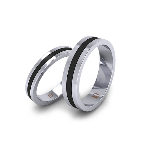 Nhẫn cưới Ceramic thiết kế KJW0174