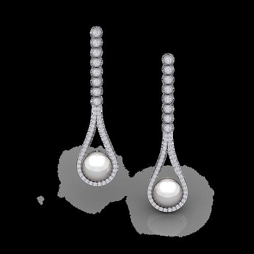 Khuyên tai ngọc trai thiết kế KJE0787